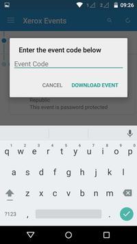 Xerox Events apk screenshot
