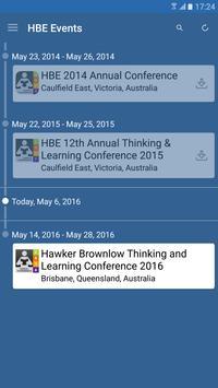 Hawker Brownlow Events apk screenshot