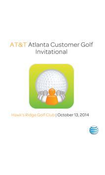 AT&T Atlanta Customer Golf poster