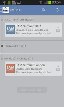 IBSMA Summits apk screenshot
