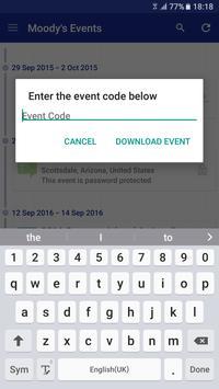 Moody's Events apk screenshot