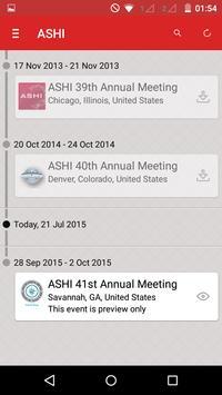 ASHI Annual Meetings apk screenshot