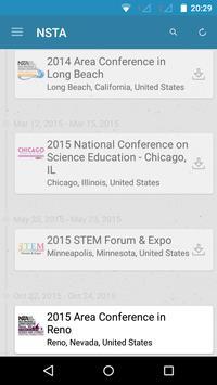 NSTA Conferences & Events apk screenshot