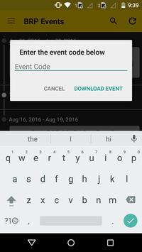 BRP Events apk screenshot