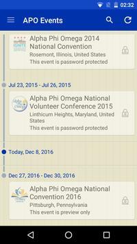Alpha Phi Omega - Event App poster