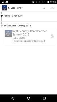 Intel Security Partner Summit poster