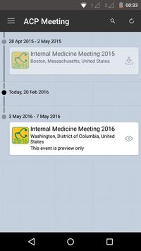 ACP Internal Medicine Meeting apk screenshot