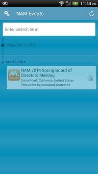 NAM Events apk screenshot