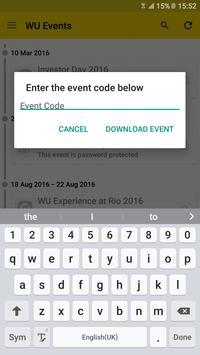 WU Events apk screenshot