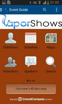 Vapor Shows App apk screenshot