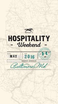 UA Hospitality Weekend 2016 poster