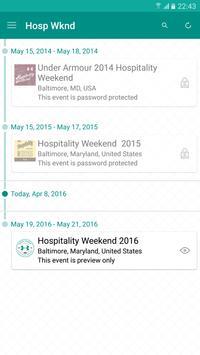 UA Hospitality Weekend 2016 apk screenshot