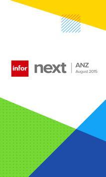 Infor Next ANZ 2015 poster