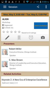 Shingo Institute Events apk screenshot