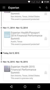 Experian Health Events poster