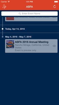 ASFA 2016 Annual Meeting apk screenshot