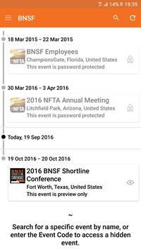 BNSF Railway Events apk screenshot