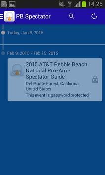 2015 AT&T Pebble Spectator Prg apk screenshot