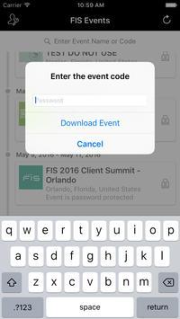 FIS Global Events apk screenshot