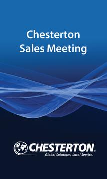 Chesterton Sales Meeting poster