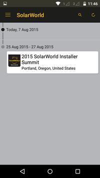 SolarWorld Americas - Events apk screenshot
