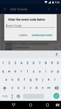 GAF Events apk screenshot