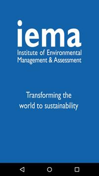 IEMA Delivering Sustainability poster