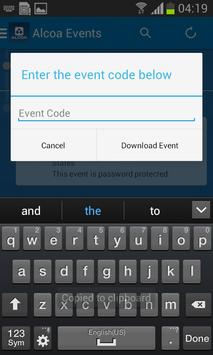 Alcoa Events apk screenshot