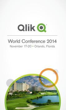 Qlik World Conference 2014 poster