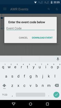 AWR Events apk screenshot