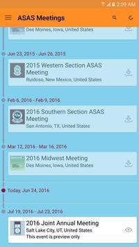 ASAS Meetings App apk screenshot