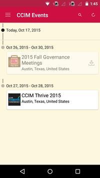 CCIM Events apk screenshot