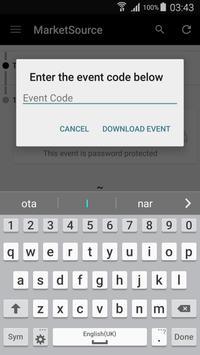 MarketSource Events apk screenshot