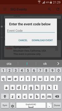 SIG Networking Events apk screenshot