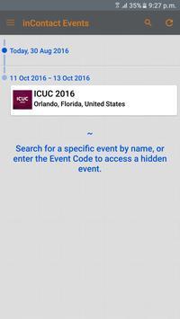 inContact Events apk screenshot