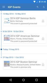 IGP Events poster