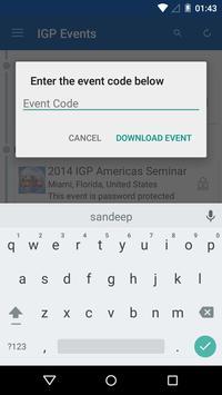 IGP Events apk screenshot
