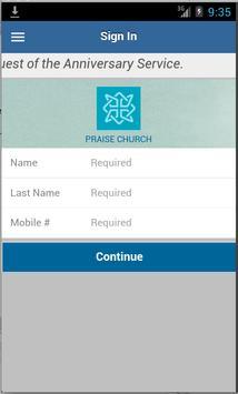 Praise Church CRM apk screenshot