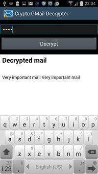 Crypto Gmail apk screenshot
