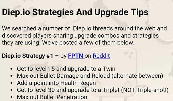 Cheats and guide for Diep.io apk screenshot