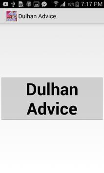 Dulhan Advice poster