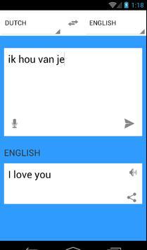 Vertalen nederlands engels apk screenshot