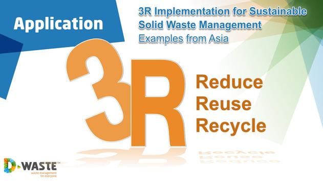 3R's in waste management poster