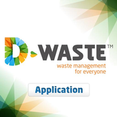 Food waste and carbon cycle icon