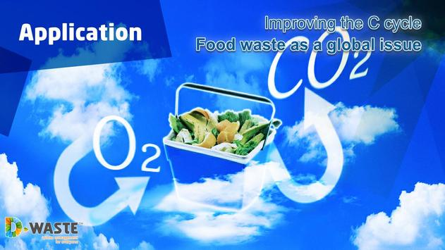 Food waste and carbon cycle poster