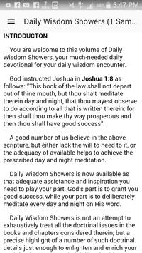 Daily Wisdom Showers (2 Kings) apk screenshot