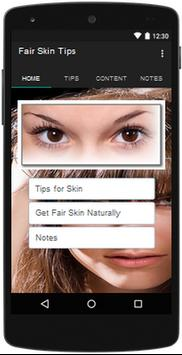 Fair Skin Tips apk screenshot