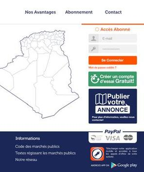 DZtenders.com Appel d'offres apk screenshot