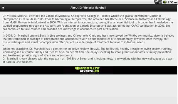 Dr. Victoria Marshall apk screenshot