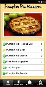 Free Pumpkin Pie Recipes poster